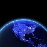 USA at night. Maps from NASA imagery Stock Photos