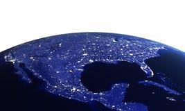 USA at night on white Stock Photo