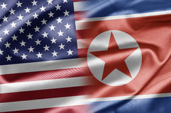 USA and North Korea Royalty Free Stock Images