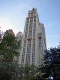 USA Nowy Jork budynku Manhattan noc woolworth zdjęcie royalty free