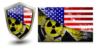 USA nuclear shield  illustrations Royalty Free Stock Images