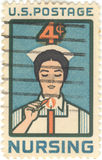 USA Nursing 4 Cent Stamp Stock Photos