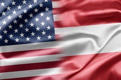 USA och Österrike Arkivbild