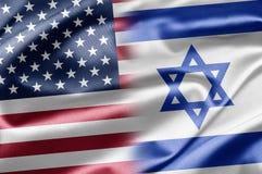 USA och Israel arkivfoto