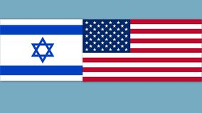 USA och Israel flagga vektor illustrationer