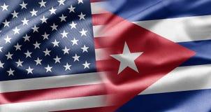 USA och Kuba Arkivfoto