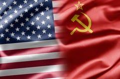 USA och USSR arkivfoton