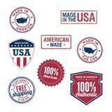 USA odznaki i znaczki Fotografia Stock
