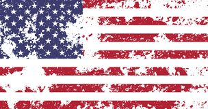 USA Official National Flag. USA, United States of America flag with official proportions and colors, flat designed shadow and light background for wallpapers Stock Illustration