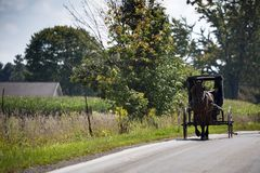 USA - Ohio - Amish. USA - Ohio - the Amish land of Holmes County royalty free stock photo