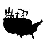 USA oil production stock illustration