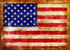 USA old painted flag. Old and dirty U.S.A. flag painted Stock Images