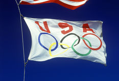 USA Olympic flag Royalty Free Stock Images