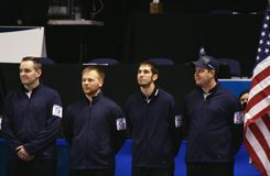 USA Olympic Men's Curling Team Stock Images