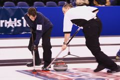 USA Olympic Men's Curling Team Royalty Free Stock Photography