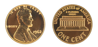 USA One Cent Stock Images
