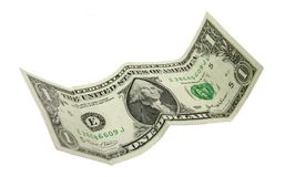 Usa one dollar. Isolated over white Royalty Free Stock Images