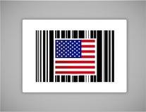 USA, oss upc eller barcode Arkivfoto