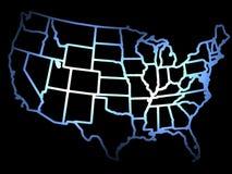USA Outline Stock Image