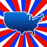 USA outline Royalty Free Stock Photos