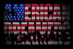 USA, PÓŁNOCNA AMERYKA, 5 2017 Wrzesień - Amerykański marzycielki ` koszmar, Cyfrowej ilustracja ilustracji