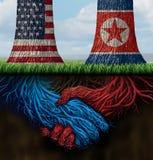 USA Północnego Korea zgoda ilustracja wektor