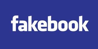 USA, Październik 2017 - Facebook plotkujący nieść tysiące Sfałszowana wiadomości wiadomość royalty ilustracja