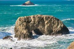 USA Pacific coast, Arch Rock, Oregon State. USA Pacific coast landscape, Arch Rock, Oregon State Stock Photography