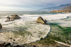USA Pacific coast, Sand Dollar Beach, Big Sur, California. USA Pacific coast landscape, Sand Dollar Beach, Big Sur, California Royalty Free Stock Photo