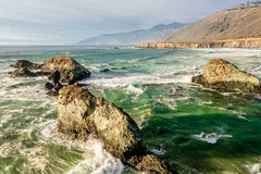 USA Pacific coast, Sand Dollar Beach, Big Sur, California. USA Pacific coast landscape, Sand Dollar Beach, Big Sur, California Stock Photo