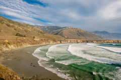 USA Pacific coast, Sand Dollar Beach, Big Sur, California Stock Image