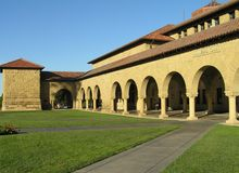 USA, Pala Alto, California, October 2008 - Stanford University Campus in Silicon Valley stock photo