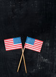 USA paper flags Royalty Free Stock Photography