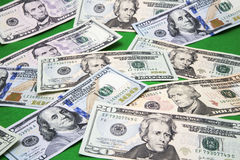 USA paper money green background Royalty Free Stock Photo