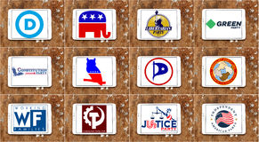 USA election  parliamentary political party logos and icons Stock Photography