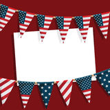 Usa party card Royalty Free Stock Photos