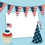Usa party card Stock Photo