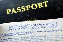 USA pass Royaltyfri Fotografi