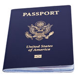 Isolated American Passport Royalty Free Stock Images