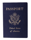Isolated American Passport Stock Photography