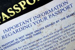 USA Passport Royalty Free Stock Photo