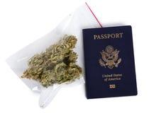 Smuggling Marijuana Stock Photography