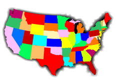 USA Patchwork Map Stock Images