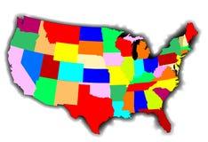 USA patchworku mapa ilustracja wektor