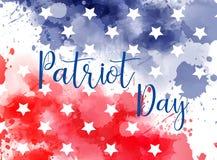 USA Patriot day background. Royalty Free Stock Photo