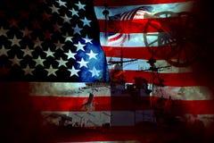 USA-Patriot-Markierungsfahne und Krieg Stockfotos