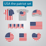 USA patriot set Royalty Free Stock Photos