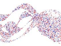 USA-Patriot-Tageshintergrund mit Sternstaubfliegen Feiertagskonfettis in US kennzeichnen Farben für Präsidenten Day vektor abbildung