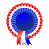USA patriotic award ribbon rosettes Royalty Free Stock Images