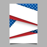 USA patriotic background. Vector illustration with text, stripes and stars for posters in colors of american flag Royalty Free Stock Photography
